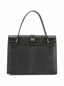 Dolce & Gabbana logo-plaque tote bag - Black