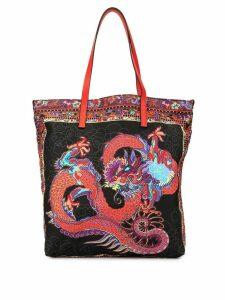 Shanghai Tang Dragon shopper tote - Black