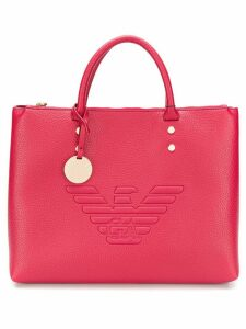 Emporio Armani embossed logo tote - Red