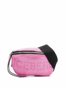 Iceberg embellished logo belt bag - Pink
