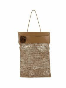 Jil Sander fishnet tote - Brown