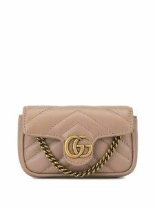 Gucci GG Marmont matelassé mini bag - Neutrals