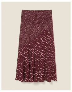 Fat Face Ellie Spot Midi Skirt