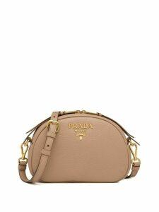 Prada logo-embellished shoulder bag - Neutrals