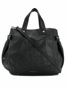 Orciani snap-fastening leather tote - Black