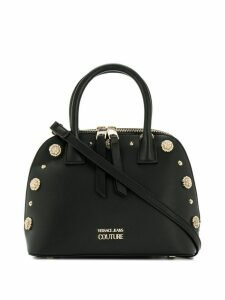 Versace Jeans Couture floral stud shoulder bag - Black