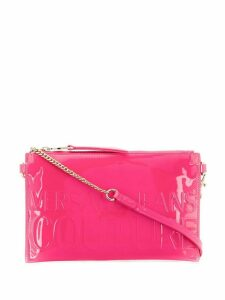 Versace Jeans Couture logo embossed clutch - Pink