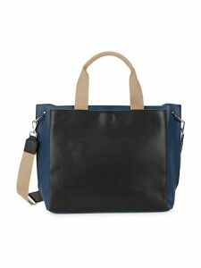 Large Maxine Faux Leather Satchel