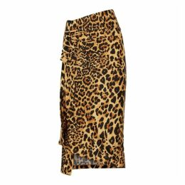Paco Rabanne Leopard-print Stretch-jersey Midi Skirt
