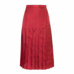 Lisou Liberty Red Star Print Silk Skirt