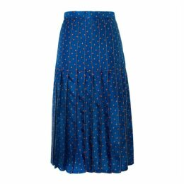 Lisou Liberty Star Print Silk Skirt