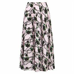 Valentino X Undercover Printed Silk Midi Skirt