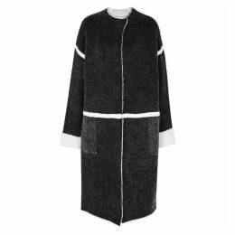 BY MALENE BIRGER Iseline Charcoal Stretch-knit Coat