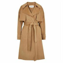 Diane Von Furstenberg Fann Camel Wool Coat