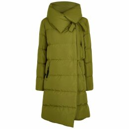 Bacon Big Puffa Olive Quilted Shell Coat