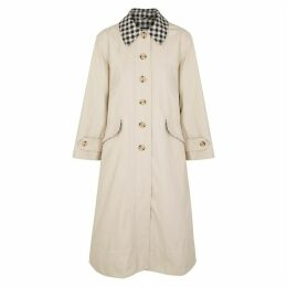 BARBOUR X ALEXA CHUNG Glenda Stone Cotton-blend Trench Coat