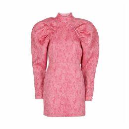 ROTATE Birger Christensen Number 1 Pink Jacquard Mini Dress