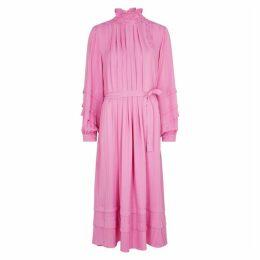 Hofmann Adele Pink Striped Midi Dress