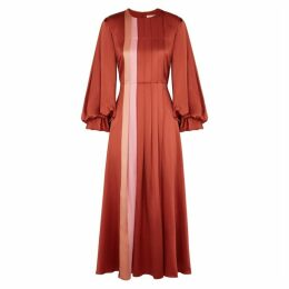 Roksanda Mina Panelled Silk Midi Dress