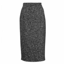 Dolce and Gabbana Tweed Midi Skirt