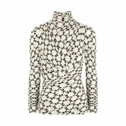 Isabel Marant Jalford Printed Stretch-jersey Top