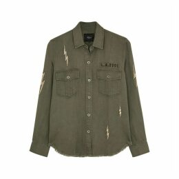 Rails Loren Embroidered Brushed Twill Shirt