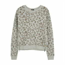 Rails Marlo Grey Leopard-print Sweatshirt