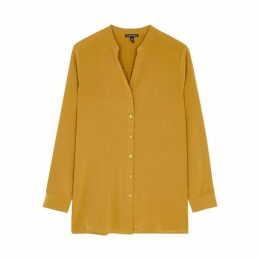 EILEEN FISHER Mustard Silk Shirt