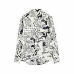 Diane Von Furstenberg Lorelei Newspaper-print Shirt