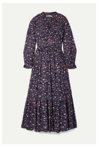 Isabel Marant Étoile - Likoya Ruffled Floral-print Cotton-voile Maxi Dress - Blue