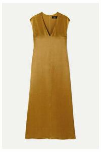 Joseph - Donall Silk-satin Midi Dress - Light brown