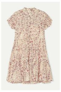 Isabel Marant Étoile - Lanikaye Floral-print Cotton-voile Mini Dress - Ecru