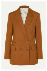 Racil - Archie Double-breasted Crepe Blazer - Light brown