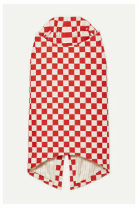 Pushbutton - Asymmetric Checked Wool-blend Skirt - Red