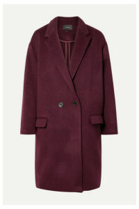 Isabel Marant - Filipo Oversized Double-breasted Wool-blend Felt Coat - Burgundy