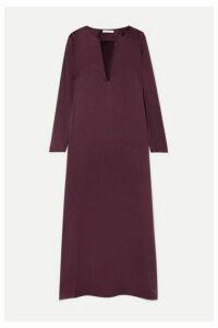 La Collection - Alberta Silk-satin Midi Dress - Plum