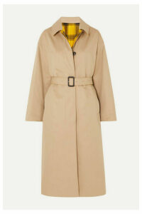 Mackintosh - Amulree Reversible Cotton-gabardine And Checked Wool Coat - Beige
