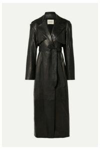 Khaite - Blythe Leather Trench Coat - Black