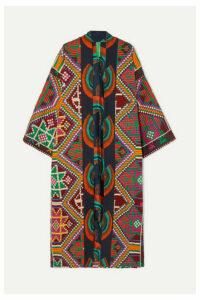 RIANNA + NINA - Marjam Embroidered Woven Coat - Purple