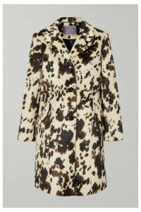 ALEXACHUNG - Cow-print Faux Fur Coat - Ecru