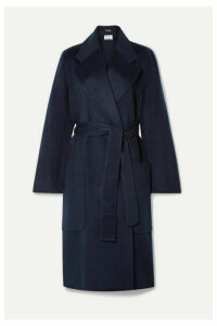 Acne Studios - Carice Belted Double-breasted Wool Coat - Midnight blue