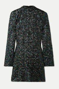 Rachel Zoe - Pierina Sequined Tulle Mini Dress - Black