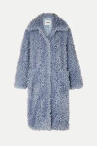 Stand Studio - Taylor Oversized Faux Shearling Coat - Blue