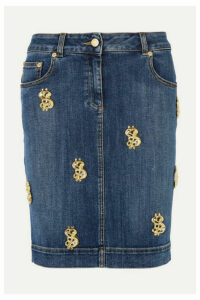 Moschino - Embellished Denim Skirt - Mid denim