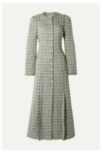 Brock Collection - Metallic Tweed Coat - Light gray