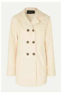 Cédric Charlier - Oversized Double-breasted Wool-blend Coat - Baby pink