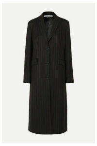 McQ Alexander McQueen - Pinstriped Grain De Poudre Coat - Black
