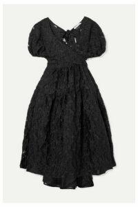 Cecilie Bahnsen - Ammi Fil Coupé Organza Midi Dress - Black
