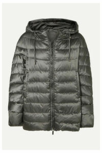 Max Mara - The Cube Hooded Quilted Shell Down Coat - Gray