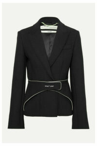 Off-White - Belted Woven Blazer - Black